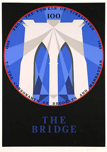 Brooklyn Bridge, Robert Indiana, Screen Print 1983