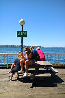Fabiola Carranza, AIR! from Seven Signs, 2016, a public art commission for Waterfront Park, Seattle, as part of Waterfront Exchange, a public art project of Waterfront Seattle and the Seattle Office of Arts & Culture