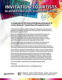 Call to Artists for group show at Zack Gallery