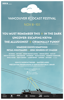 Vancouver Podcast Festival Poster