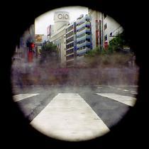 Leslie Kennah: Hachiko Crossing (C-print pinhole photograph