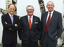 Dr. Ron Burnett, Mr. John C. Kerr, Chancellor, and Dr. George Pedersen