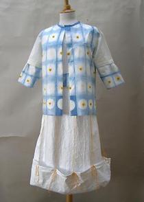 Hanji Dress by local artist Rosalind Aylmer
