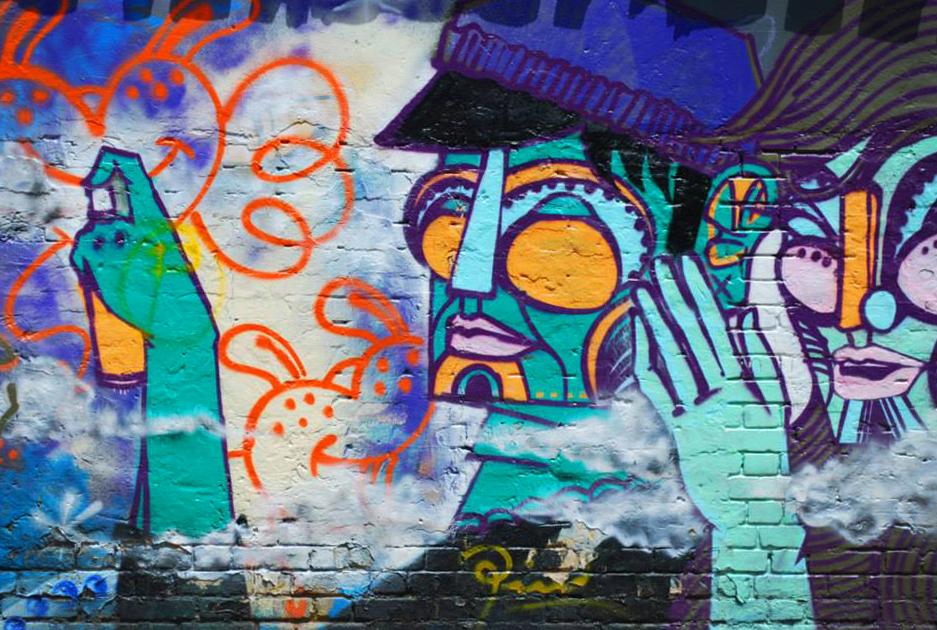 Street art mural in Bogotá, Colombia