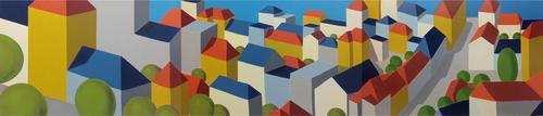 "Settlement 2014 | oil on canvas, 36"" x 168"""