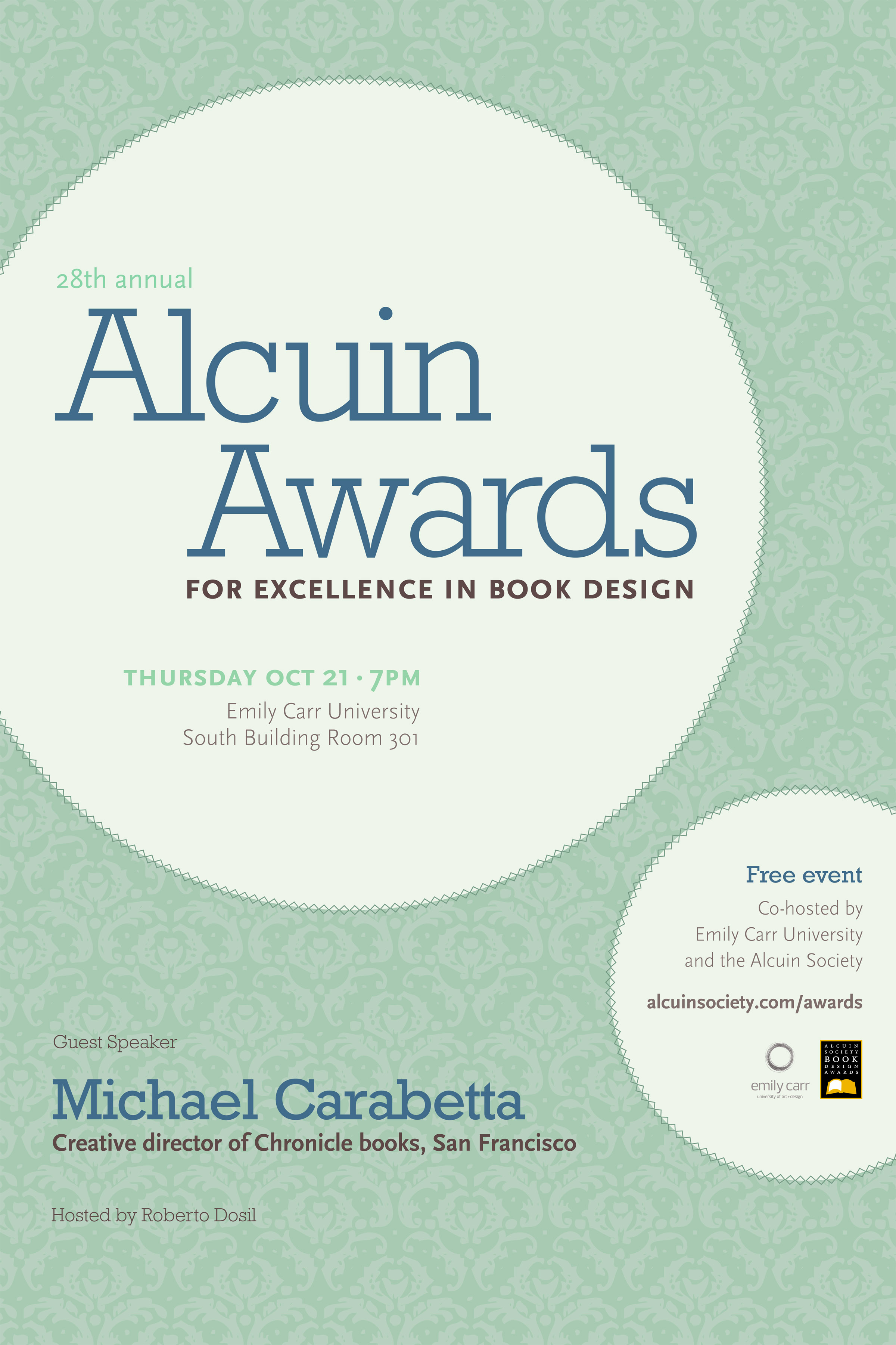 alcuin awards poster emily carr university