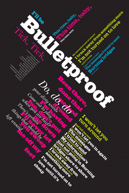 expressive typography poster emily carr university