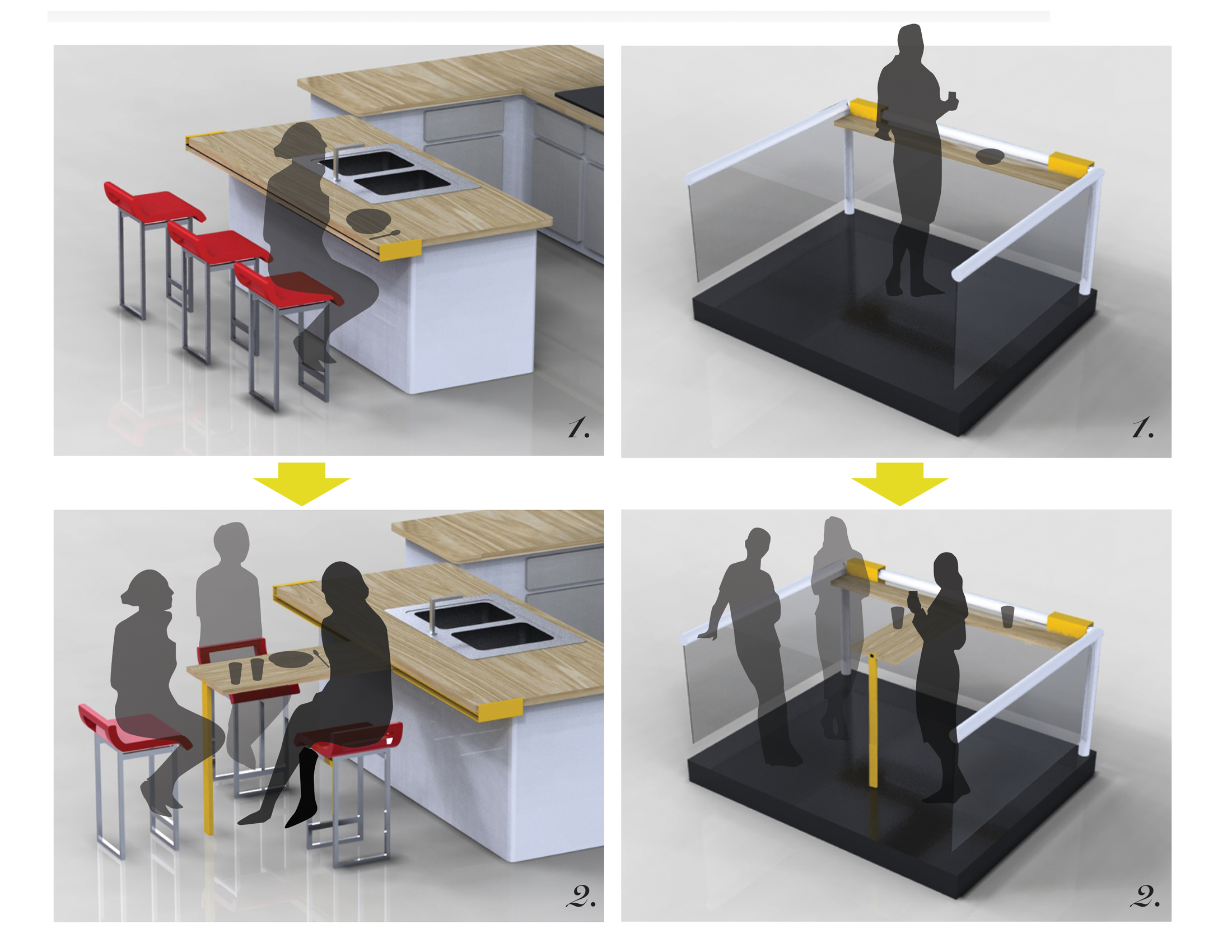 A transformable table emily carr university for Table transformable conforama