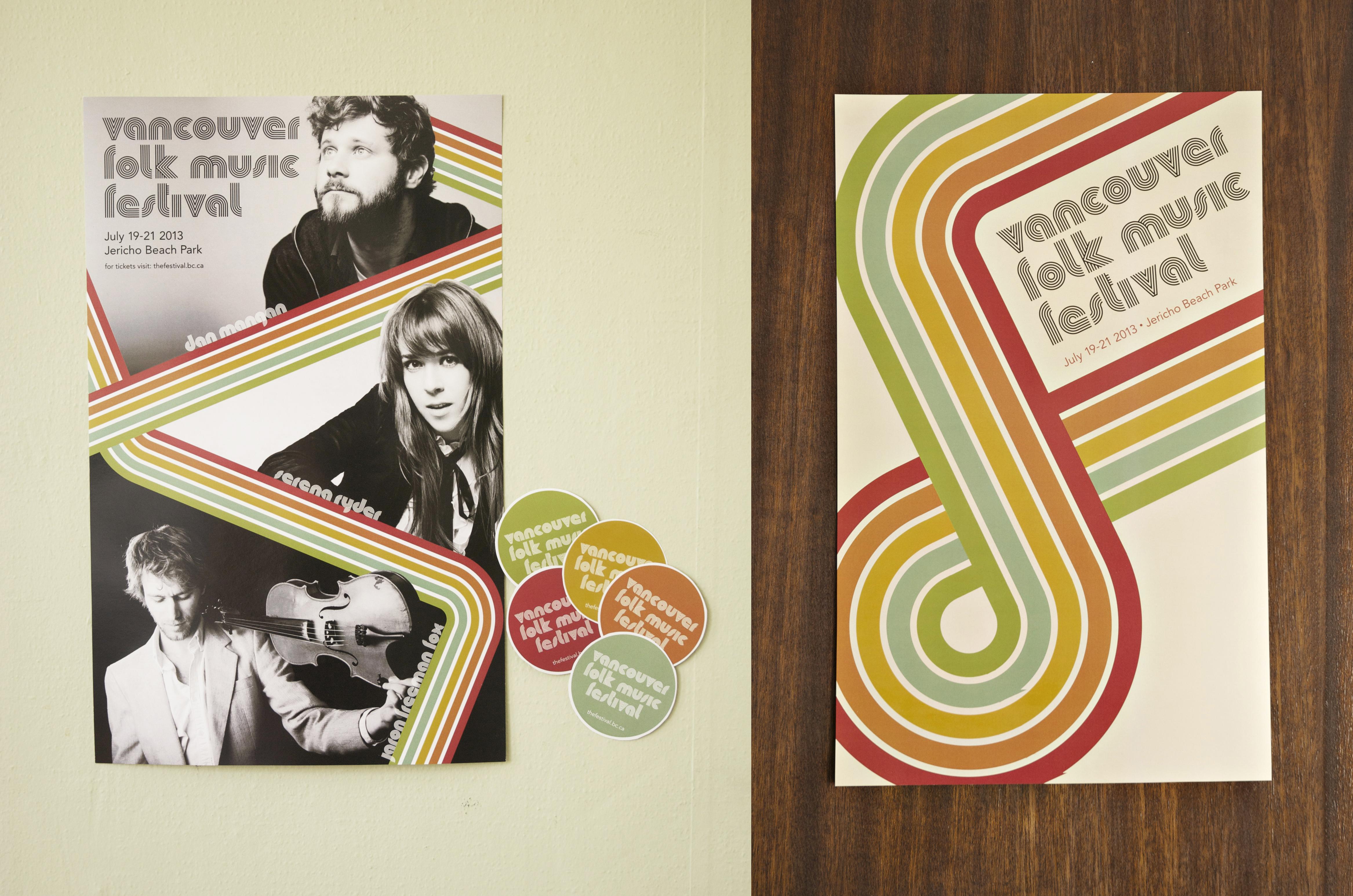 folk music festival posters vancouver folk music festival rebrand