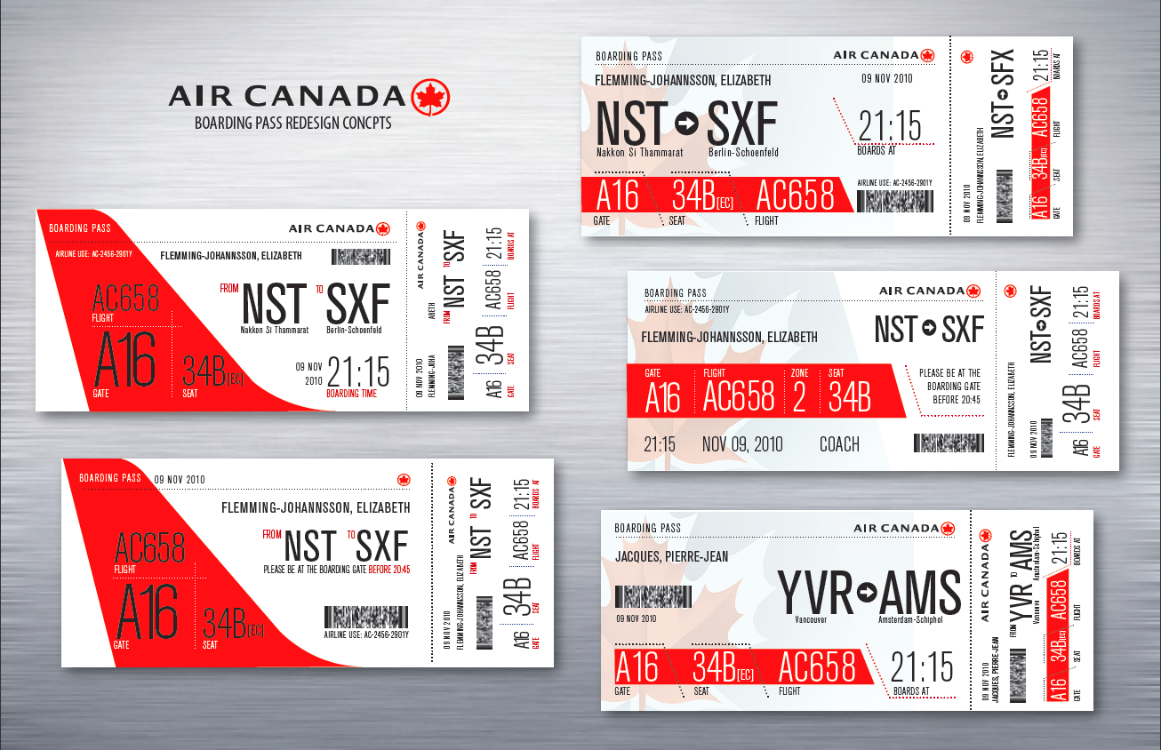 canadian airlines boarding pass
