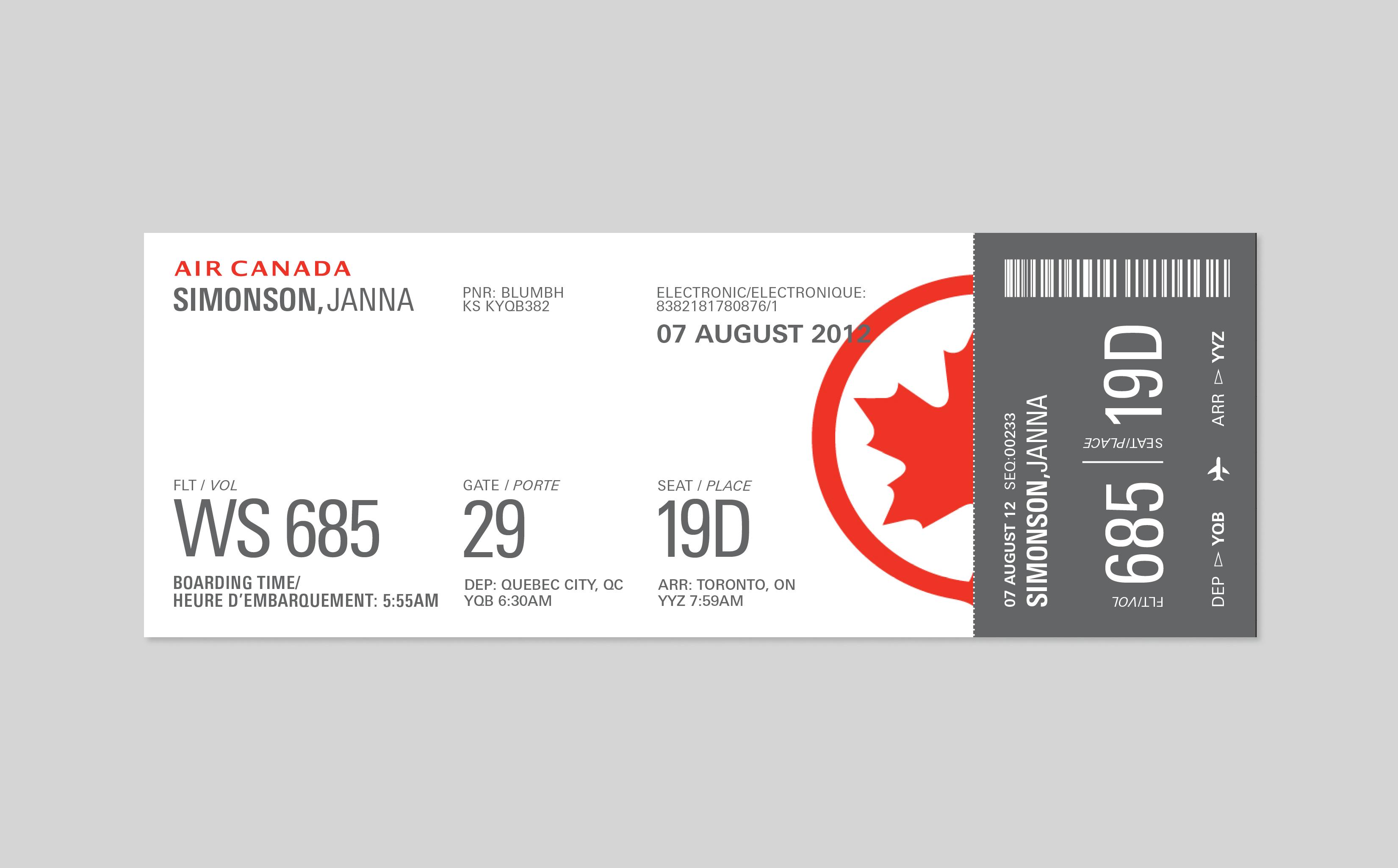 flight airline ticket: