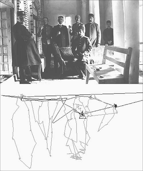 Dennis Oppenheim Two Stage Transfer Drawing a Free-eye Drawing Photograph